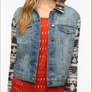 BDG X The Reformation Blanket Sleeve Denim Jacket
